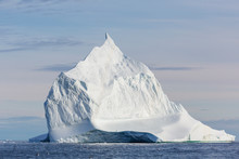 Majestic White Iceberg On Sunn...
