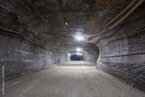 Salt potash mine ore shaft tunnel drift underground