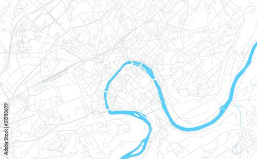 Besancon, France bright vector map Canvas Print