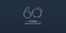 60 Years Anniversary Vector Ic...