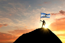 Argentina Flag Being Waved At ...