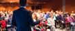 Leinwandbild Motiv Speaker at Business Conference and Presentation.