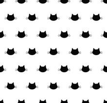 Seamless Cat Pattern.  Cat Bac...