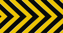 Warning Sign With Black Stripe...