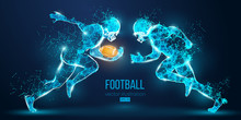 Abstract Football Player From ...