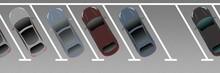 Adi81 AutonomousDrivingIllustration - German: Schrägparken - Bitte Schräg Einparken – 60 Grad - English - City Parking Lot. Top View Of Parking Space. Park At Angle. - 3to1 Xxl - G8934