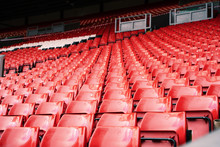 Bright Red Stadium Seat In Liv...