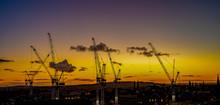 Silhouette Crane Construction ...