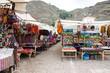 Leinwanddruck Bild - The traditional market of Pisac, Peru