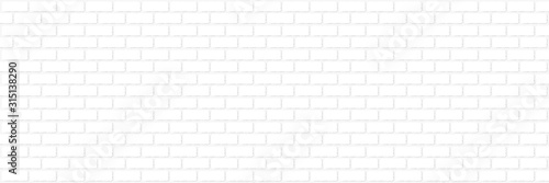 Obraz Mur en briques blanches / vecteur - fototapety do salonu