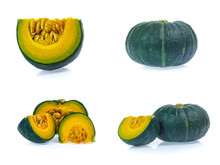 Set Of Green Pumpkin Isolated ...