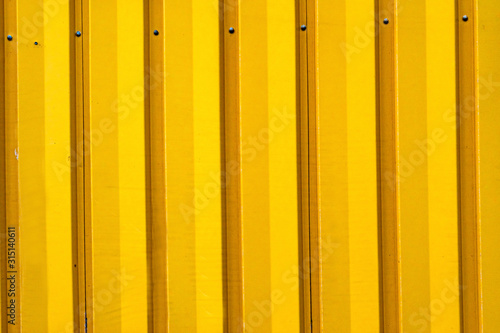 Yellow Corrugated Lead Metal Abstract Background Reykjavik Iceland