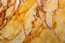 Wall With Structure Of Yellow Brown Amber And Abstract Patterns
