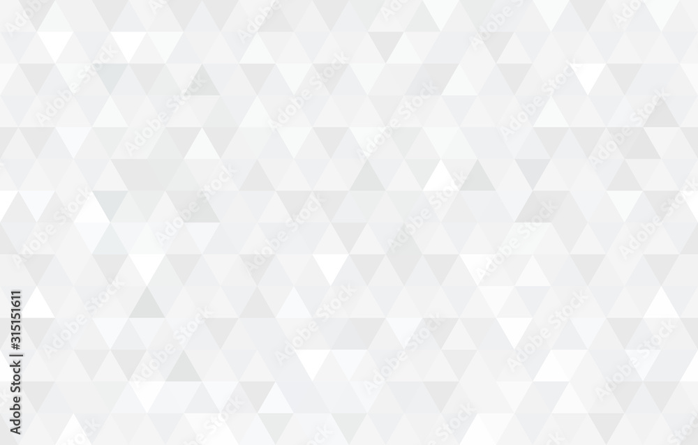 Fototapeta Vector white triangular mosaic texture. Modern low poly background.
