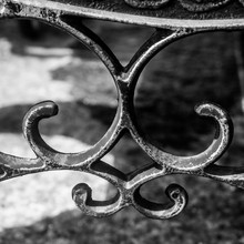 Abstract Curvy Iron Bench