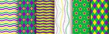 Mardi Gras Background, Seamles...