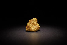 Closeup Of Big Gold Nugget On ...