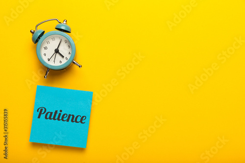 Canvastavla Patience concept, waiting time.