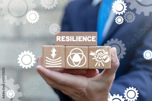 Fotografía Resilience Business Concept. Resilient Education Success.