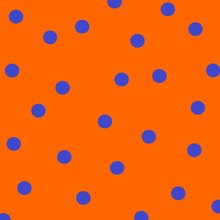 Blue And Orange Polka Dots