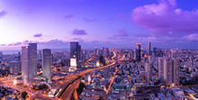 Tel Aviv Skyline At Sunset,  T...