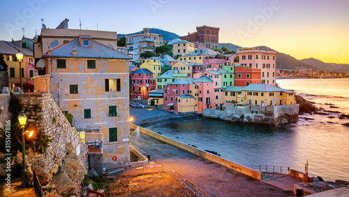 Foto Boccadasse, an old neighbourhood of Genoa city, Italy