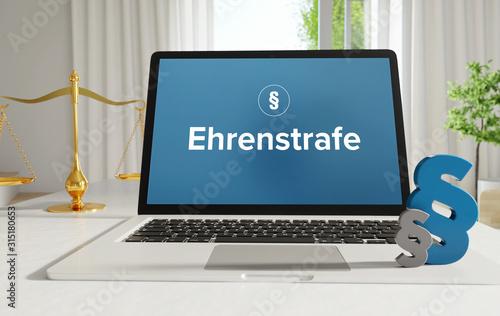 Fotografie, Obraz  Ehrenstrafe – Recht, Gesetz, Internet