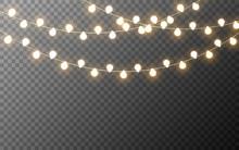Christmas Lights Isolated. Glo...
