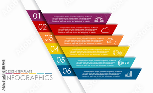 Infographic design template with place for your data Tableau sur Toile