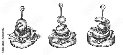 Fototapeta Traditional Hispanic appetizer set obraz
