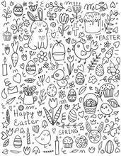 Cute Easter Doodle Set: Bunnie...