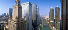 Chicago River, Aerial Shot, Il...
