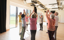 Active Seniors Exercising, Str...