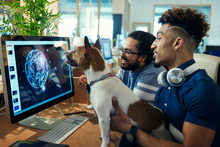 Graphic Designers With Dog Wor...