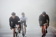 Dedicated Male Cyclists Cyclin...