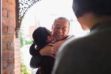 Granddaughter Hugging, Greetin...