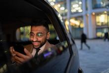 Businessman Using Smart Phone ...
