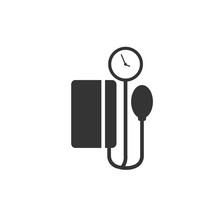 Blood Pressure Measuring Icon Vector Illustration Eps10