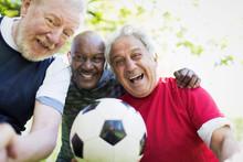 Portrait Active Senior Men Fri...