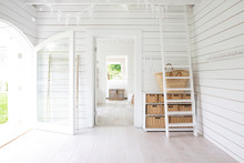 White Wood Shiplap Beach House...