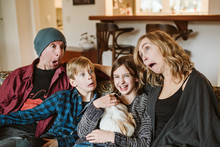 Playful, Silly Family Making F...