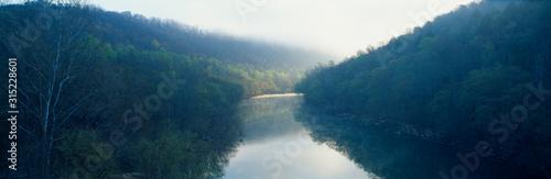 Photo Morning fog on Cumberland River, Kentucky