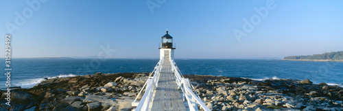 Fotografie, Obraz Marshall Point Lighthouse from 1832, Penobscot Bay, Port Clyde, Maine