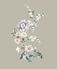 Watercolor Flowers Set,Floral ...