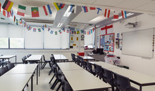 National Flags Hanging Above T...