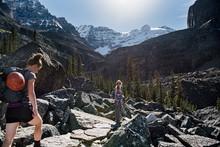 Women Hiking In Majestic, Crag...