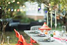 Table Set For Dinner Garden Pa...