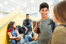 Junior High Students Talking