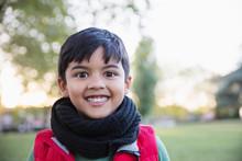 Portrait Enthusiastic, Cute Boy In Park