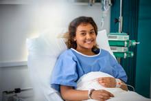 Portrait Smiling Girl Patient ...